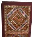 Hand Embroidered Wall Tapestry Mirror Work Wall Hanging