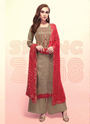 Hand Work Upada Silk Palazzo Suits For Party