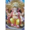 Painted Ganesh Lal Bagh Ka Raja Statue, Size: 1-5 Feet