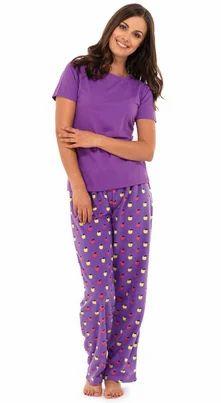 5a1d65f84a48 Purple Printed Ladies Pyjama