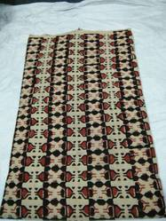 Indian Vintage Throw Block Printed Multi Cotton Fabric