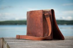 Leather Laptop Bag, Messenger Bag, Shoulder Bag, Leather Bag, Men's Leather Bag