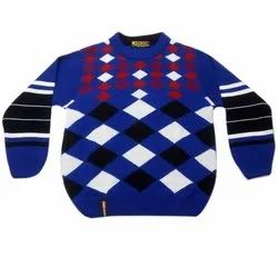 Checked Boys Woolen Sweater