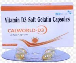 Calworld Cholecalciferol 60000 Vitamin D3, 1*4, Prescription