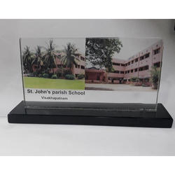 Transparent Crystal Table Top Photo Frame, Size: 8 X 4 Inch (w X H)