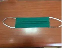 Cotton Sub-Micron Green Non Woven Disposable Bacteria Face Mask