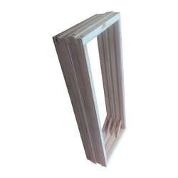 Natural Hinged Wooden Window Frame