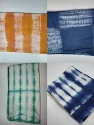 Cotton Multicolor Shibori Print Tie Dye Fabric, 100