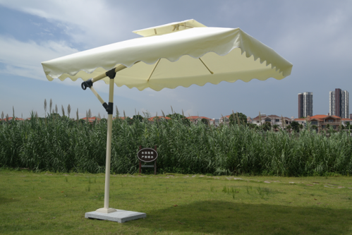 Off White Garden Umbrella