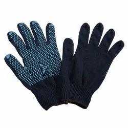 Full Finger Unisex Mallcom Dotted Hand Gloves, Size: Free Size