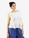 Dull White Butterfly Top
