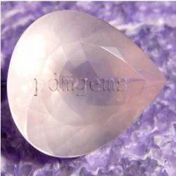 Rose Quartz Faceted Pear Gemstone