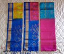Festive Wear Multicolor Pochampally Silk Sarees, With Out Blouse Piece, 6.3 M (with Blouse Piece)