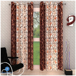 Multicolor Plain And Printed Curtains, Size: 5ft, 7ft, 9ft