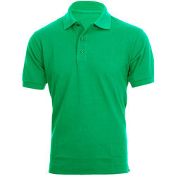 Medium Green Men Collar T Shirt