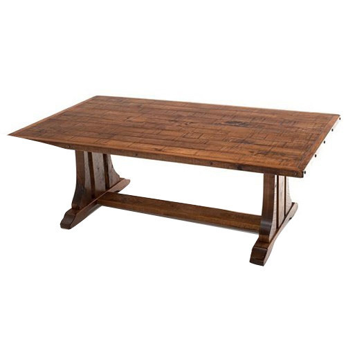 Wood 6x3 Feet Outdoor Dining Table Rs, Outdoor Trestle Table