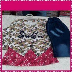 Party Wear Printed Baby Girl Fancy Dress Set