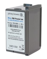 Pitney Bowes Franking Ink Cartridge - Blue - DM100i, DM200i Series