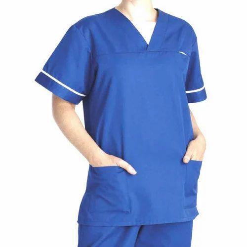 Blue Medical Scrub Uniform