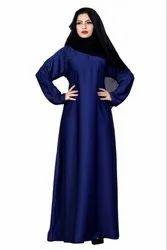 Plain Nida Abaya Burka With Chiffon Hijab Scarf For Women