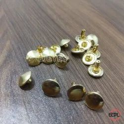 9mm Brass Rivet Buttons Polished