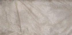 Raschel Net Fabric Flower Butta with Golden Coating