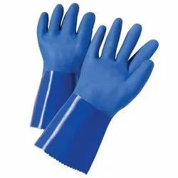 Ruff Beam PVC Supported Dipped Gloves, 11-15 Inches, Finger Type: Full Fingered