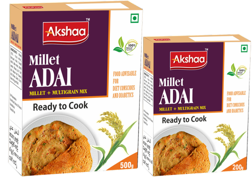 Millets AKSHAA MILLET ADAI, Packaging Type: Box, Packaging Size: 500gm