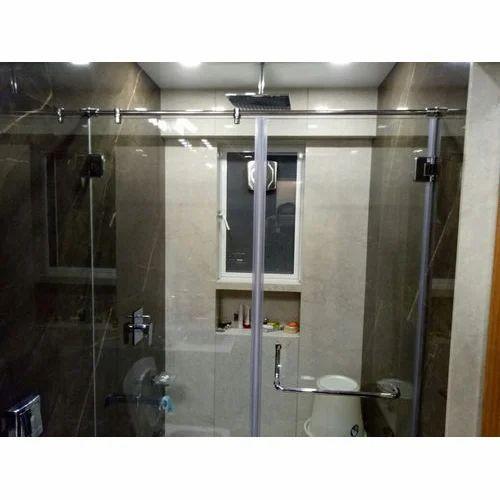 Transparent Shower Glass Hardware With Installation