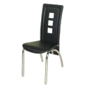 Leather Black Dining Chair, Size: Standard, Set Size: Single