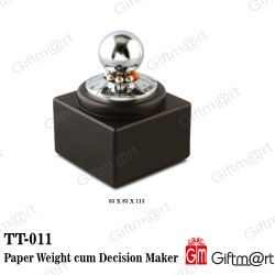 Paper Weight Cum Decision Maker