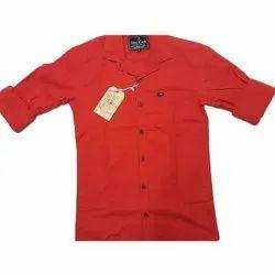 Cotton Collar Neck Mens Full Sleeve Plain Shirts