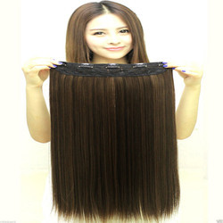 Golden Black Mix Highlighter Straight Hair Extension