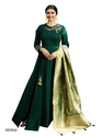 Dark Green Color Silk Designer Suit