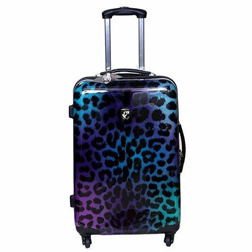 55d5b4e6b Tramp   Badger Multicolor Printed Polycarbonate Trolley Bag