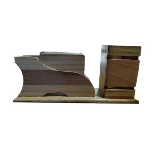 office pen holder. Brown Designer Office Wooden Pen Holder, Size: 10 Inch Holder