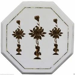Luxury Marble Inlay Table Top Dining Table Top