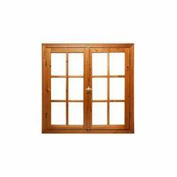 Brown Teak Wooden Window