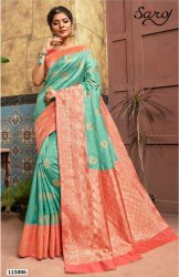 Designer Party Wear Banarasi Pallu Saree