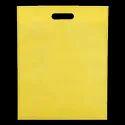 Yellow Non Woven D Cut Bag