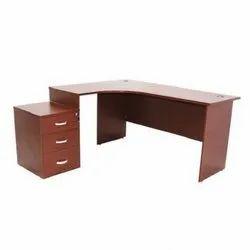 L Shape Office Table 900mmL x 600mmD -750mmH - Storage/Drawer