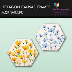 Canvas Prints With Hexagon Frames