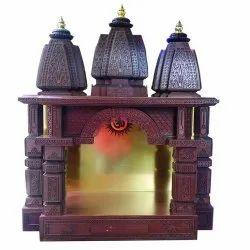 Sangam Ad Handicraft Wooden Temple, Size/Dimension: 96.5 X 76.2 X 38.1 cm