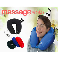 Musical Neck Pillow with Massager