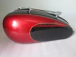 New Triumph T150 Black And Cherry Painted  Petrol Tank With Grill Rack And Petrol Cap (Reproduction)