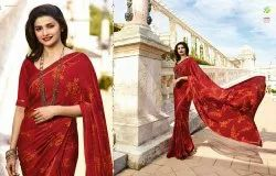 Printed Georgette Saree, 6.3, With Blouse Piece