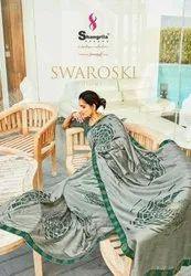 Shangrila Swaroski Vol-3 Heavy Georgette Print With Swaroski Work Saree Catalog