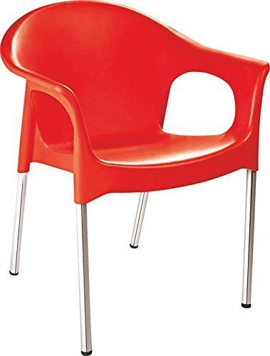 Red Cello Metallo Plastic Chair, Usage: Indoor, Outdoor