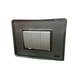 Glass Plate Crystal Grey Elleys Switches