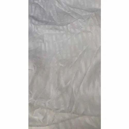 White Polyester Jacquard Fabric